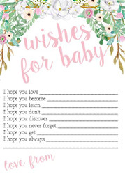 5x7' Wishes For Baby Cards Floral - 12pk