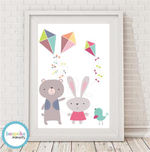 Product image of Cute Three Kites Print