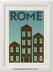 Vintage City Print - Rome