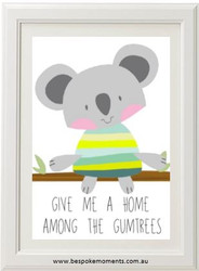 Home Among The Gumtrees Koala Print
