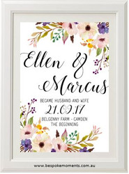 Floral Romance Wedding Print