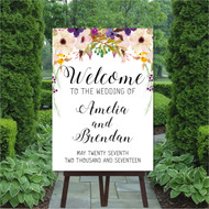 Romance Wedding Welcome Sign