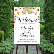 Dusty Pink Wedding Welcome Sign