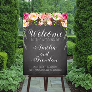 Chalk - Rustic Blooms Wedding Welcome Sign