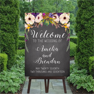 Chalk - Romance Wedding Welcome Sign