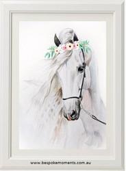 Watercolour Willow Horse Print