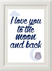 To The Moon And Back Print