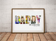 Daddy Photo Letters Print