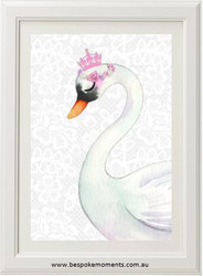 Royal Swan Princess Print - Lace