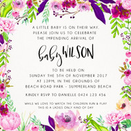 Bloom Burst Baby Shower Invitation