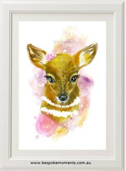 Woodland Fawn Print