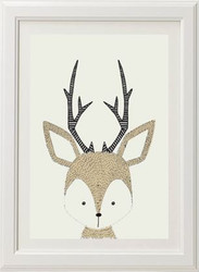 Neutral Deer Print