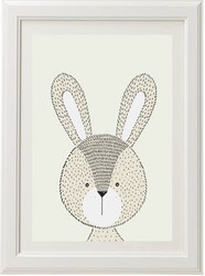 Neutral Rabbit Print