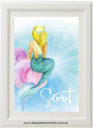 Mermaid Rays Name Print