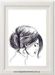 Bold & Brave Sketch Woman Print