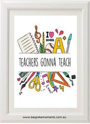 Hand Print Teacher Print