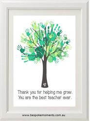 Handprint Teacher Print