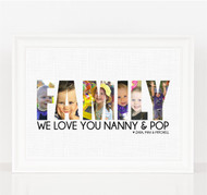 Family Photo Letters Print