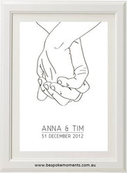 Two Hands Personalised Print