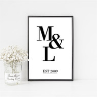 Personalised Couple's Initial Print