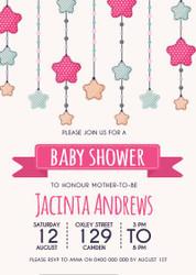 Star Baby Shower Invitation