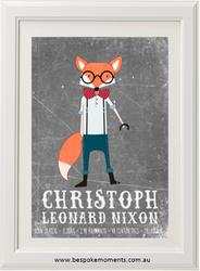 Mr Fox Birth Print