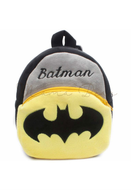 Little Batman Print Kids Fur Bag (Small)