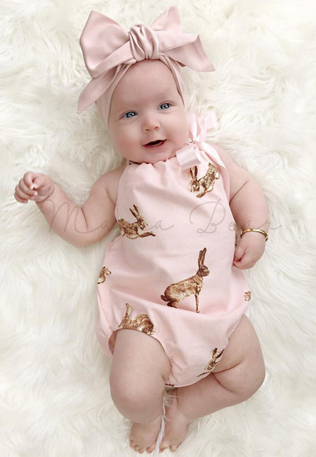 Kangaroo Print with Headband Baby Bodysuit