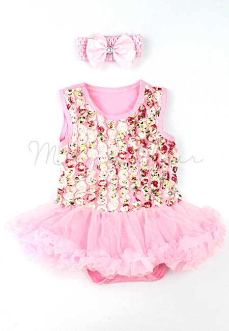 Ruffled Roses Baby Tutu Set