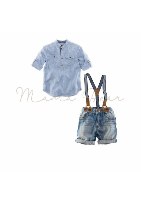 Modern Gatsby Style Kids Top and Shorts Set