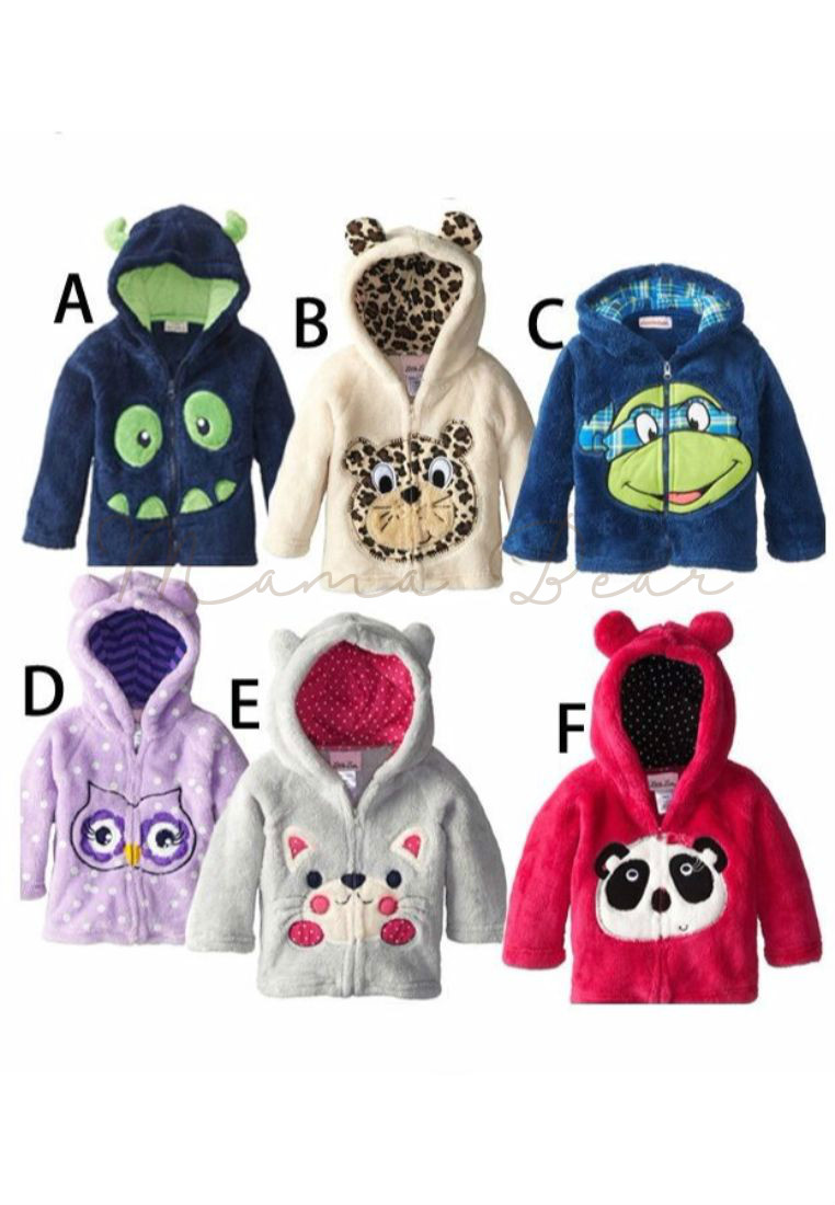 adorable animal print kids hoodies