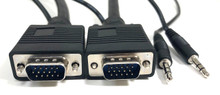 SVGA / VGA M/M CABLE DOUBLE SHIELDED W 3.5MM AUDIO - 25FT