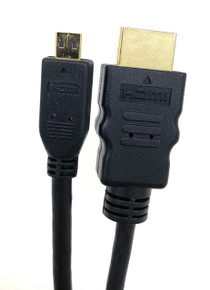 Micro Connectors, Inc. 3' HI-SPEED HDMI A MALE TO MICRO-D MALE CABLE