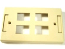 Single Gang Plate - 4 Port Beige