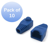 SNAGLESS CABLE BOOTS CAT5 BLUE -10 PACK