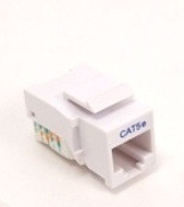 Keystone Jack RJ45 Category 5 - White