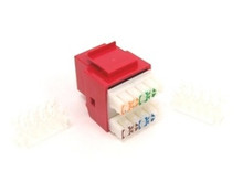 Keystone Jack RJ45 Category 5 - Red