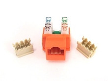 Keystone Jack RJ45 Category 5 - Orange