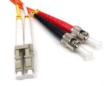 LC / ST Multimode Duplex 62.5/125 Fiber Optic Cable - 2 Meter