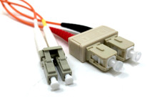 LC / SC Multimode Duplex 62.5/125 Fiber Optic Cable - 3 Meter