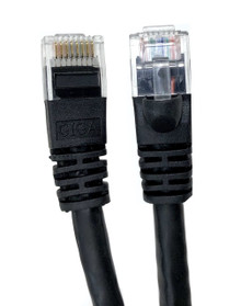 Category 6 UTP RJ45 Patch Cable Black - 50 ft