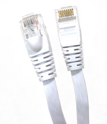 25ft FLAT CAT6 UTP CABLE-WHITE