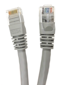 Category 6 UTP RJ45 Patch Cable Gray - 5 ft