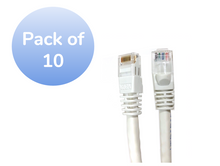 1ft CAT6 PATCH CABLE-WHITE-10 PACK