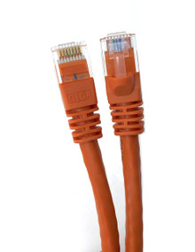 Category 6 UTP RJ45 Patch Cable Orange - 1ft