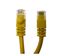 Category 5E UTP RJ45 Patch Cable Yellow - 25 ft