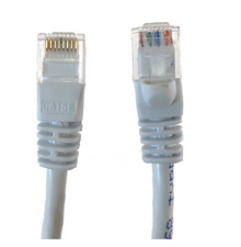 Category 5E UTP RJ45 Patch Cable White - 3 ft