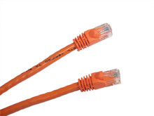 Category 5E UTP RJ45 Patch Cable  Orange- 1 ft
