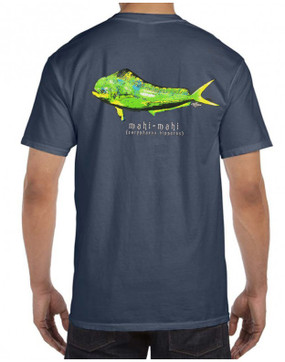 Mahi Mahi on Denim w/ Pocket