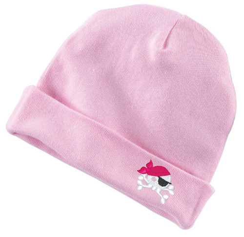 Baby Pirate Infant Baby Rib Cap Pink
